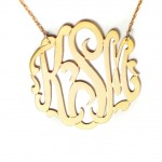 Monogram Necklace , 8 Stunning Metal Script Monogram Necklace In Jewelry Category