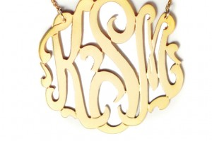 Jewelry , 8 Stunning Metal Script Monogram Necklace : Monogram Necklace