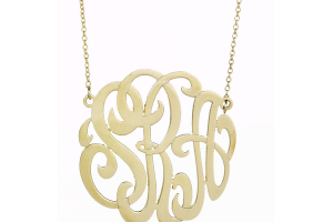Jewelry , 7 Nice Monogram Necklace Lauren Conrad : Monogram necklace