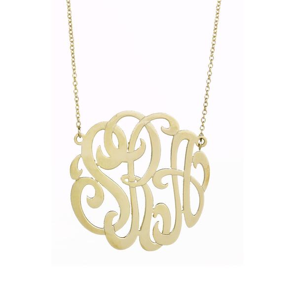 7 Nice Monogram Necklace Lauren Conrad in Jewelry