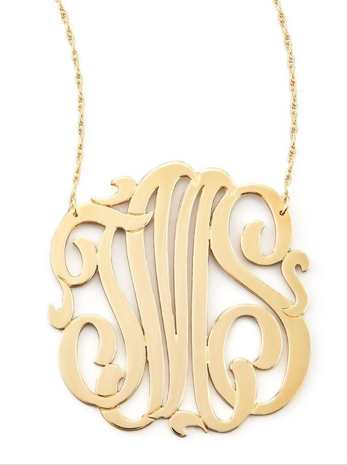 Jewelry , 7 Unique Initial Necklace Jennifer Zeuner : Monogram Necklace