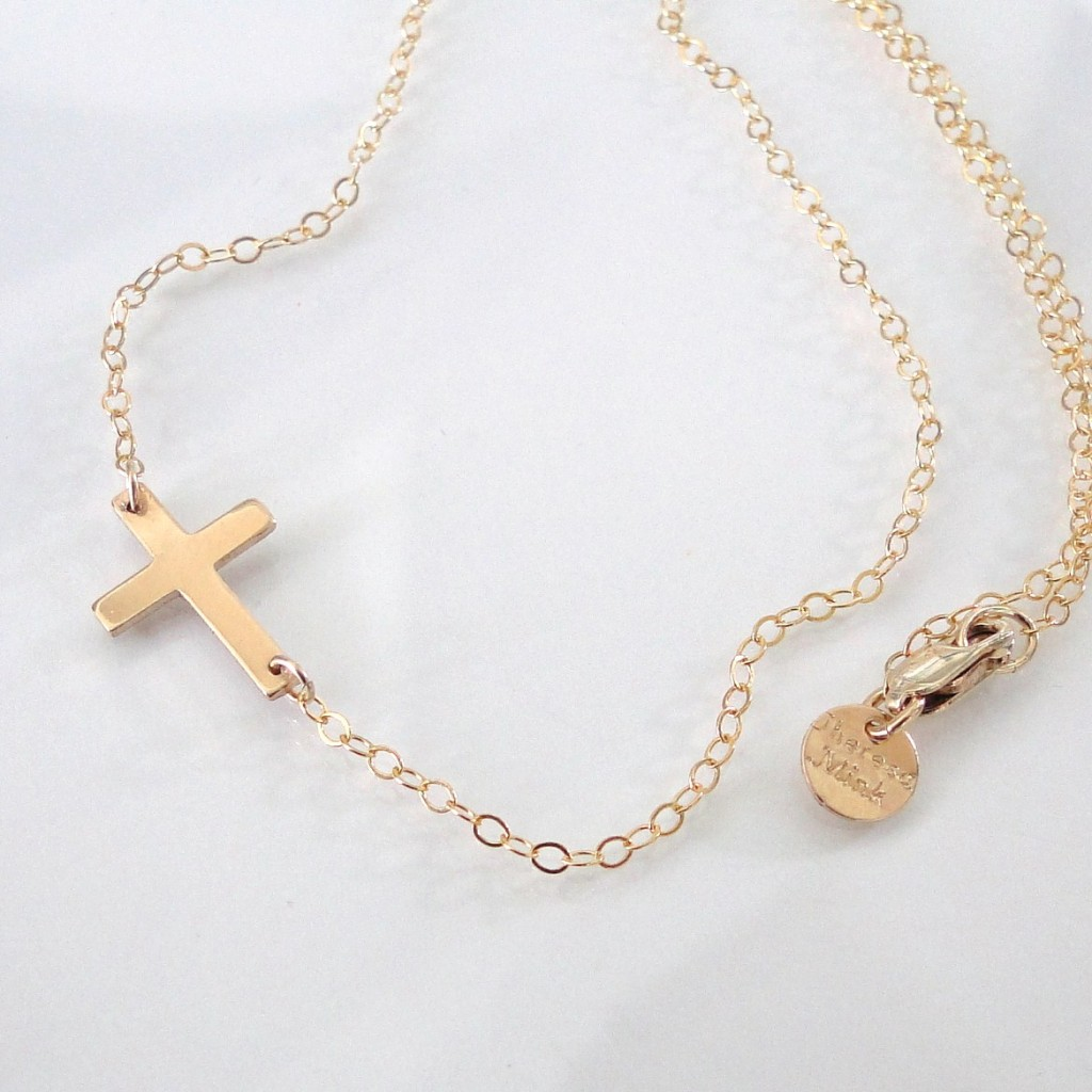 8 Nice Sideway Cross Necklace in Jewelry