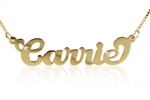 Jewelry , 7 Popular Carrie Nameplate Necklace : Name Necklace Boutique