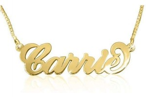 638x638px 7 Amazing Carrie Bradshaw Name Necklace Picture in Jewelry