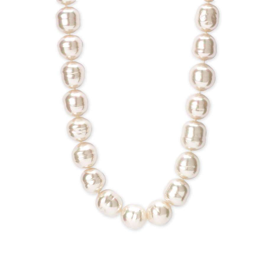 Jewelry , 8 Lovely Majorica Baroque Pearl Necklace : Necklace White Pearl