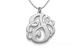 500x500px 6 Charming Swirly Initial Necklace Picture in Jewelry