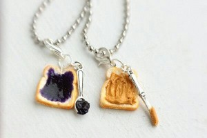 Jewelry , 8 Outstanding Peanut Butter And Jelly Necklaces : Peanut butter necklaces