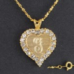 Pendant Necklace , 8 Charming 14kt Gold Initial Necklace In Jewelry Category