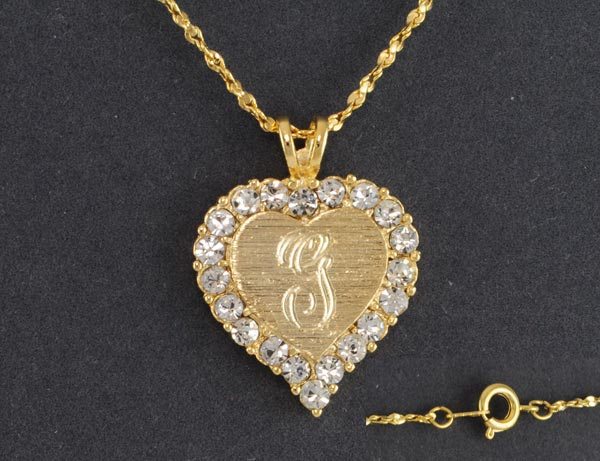 8 Charming 14kt Gold Initial Necklace in Jewelry