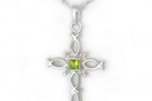 Jewelry , 8 Charming Ichthus Necklace : Peridot Green
