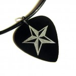 Pick Necklace in black , 8 Gorgeous Guitar Pick Necklace Engraved In Jewelry Category