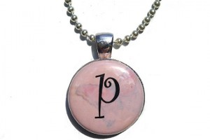 Jewelry , 8 Gorgeous Interchangeable Magnetic Necklace : Pink Initial Necklace