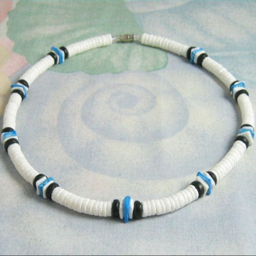 6 Stunning Puka Shell Necklace For Men in Jewelry
