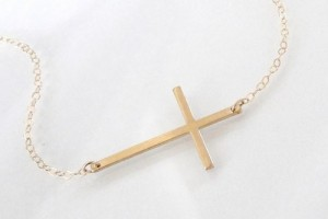 Jewelry , 8 Stunning Sideways Cross Necklace Kelly Ripa : Reserved for Jessie Mejia