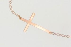 Jewelry , 8 Stunning Kelly Ripa Cross Necklace : Ripa Sideways Cross Necklace