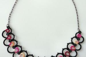 Jewelry , 8 Nice Tatted Necklace Pattern : Ripple Tatted Necklace Pattern