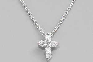 Jewelry , 7 Nice NRoberto Coin Baby Cross Necklace : Roberto Coin Diamond