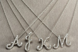 Jewelry , 7 Charming Roberto Coin Initial Necklace : Roberto Coin Diamond Initial Necklace