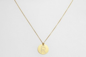Jewelry , 7 Charming Roberto Coin Initial Necklace : Roberto Coin Gold Disc