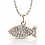 Roll over image for zoom , 8 Charming Ichthus Necklace In Jewelry Category