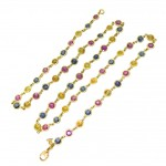 Sapphire Gold Link Necklace , 9 Georgeous Temple St Clair Necklace In Jewelry Category