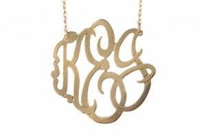 640x480px 8 Stunning Metal Script Monogram Necklace Picture in Jewelry