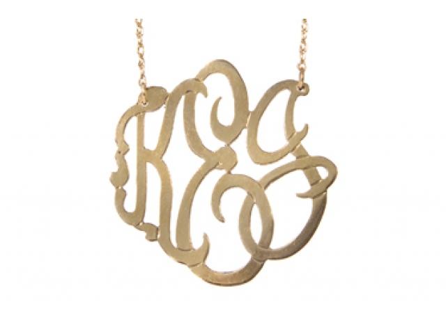 Jewelry , 8 Stunning Metal Script Monogram Necklace : Script Monogram Pendant
