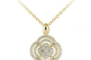 650x650px 8 Charming Diamond Shamrock Necklace Picture in Jewelry