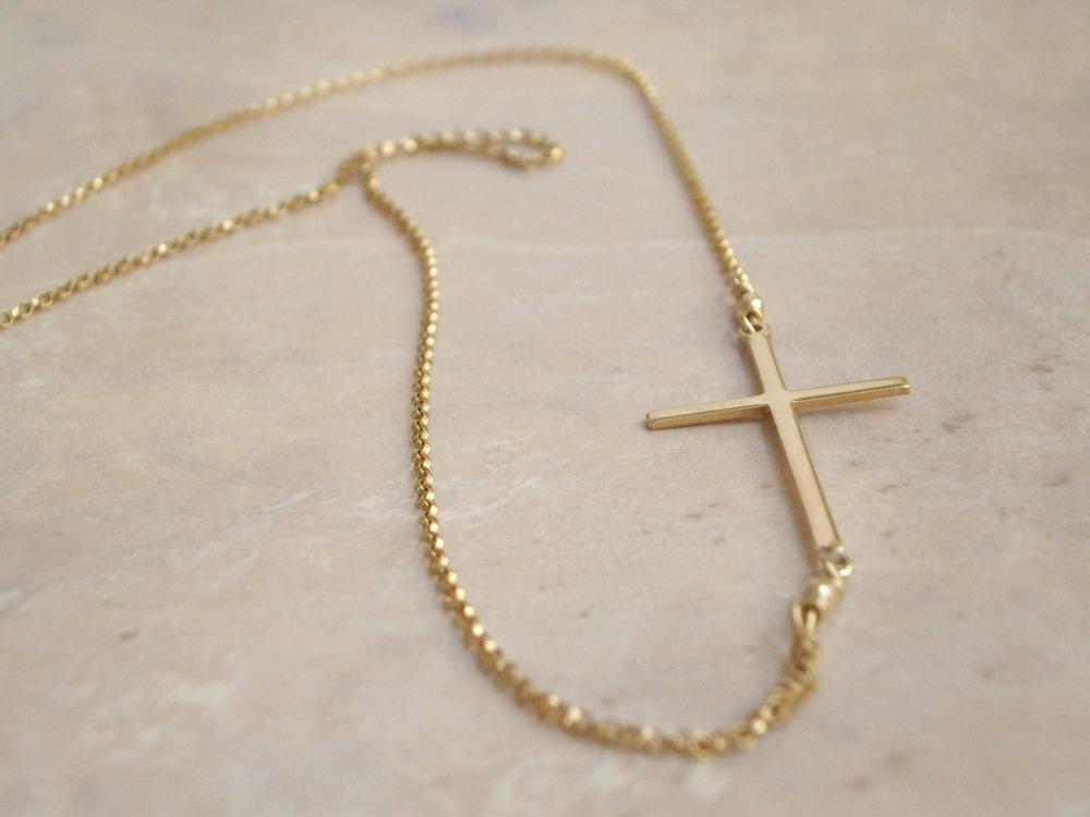 Jewelry , 8 Nice Sideway Cross Necklace : Sideways Cross Necklace