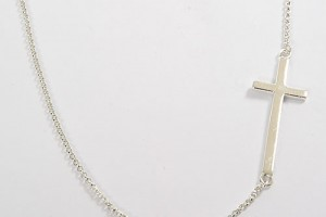 Jewelry , 8 Awesome Sterling Silver Sideway Cross Necklace : Sideways Cross Necklace