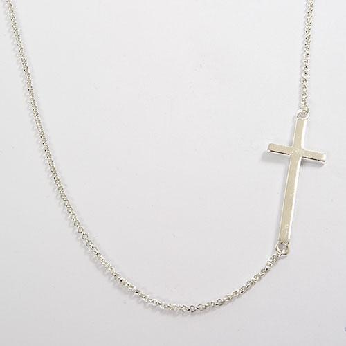 Jewelry , 8 Awesome Sterling Silver Sideway Cross Necklace : Sideways Cross Necklace