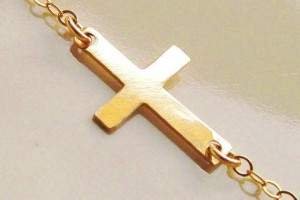 Jewelry , 8 Best 14kt Gold Sideways Cross Necklace : Sideways Cross Necklace