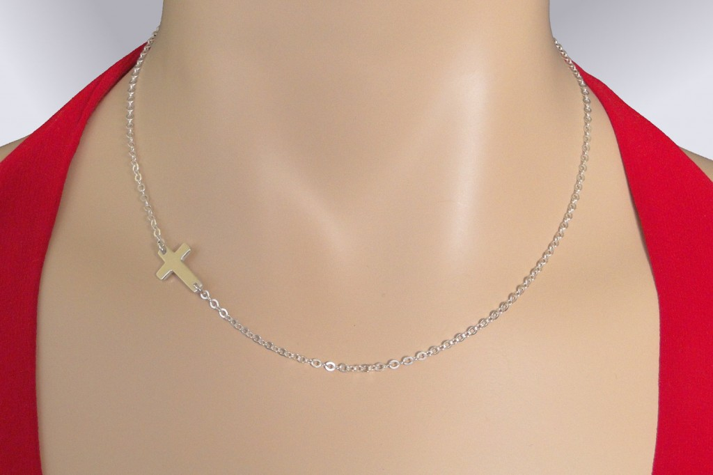 8 Fabulous Roseark Sideways Cross Necklace in Jewelry