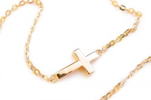 Jewelry , 8 Awesome Cross Necklaces For Women Sideways : Sideways PETITE Cross Necklace