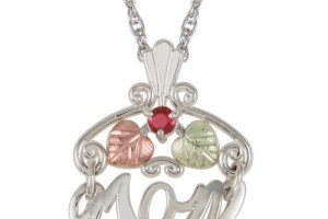 Jewelry , 8 Charming Birthstone Necklaces For Mothers : Silver Birthstone Charm Necklace