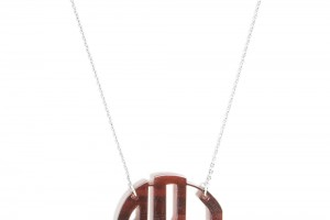 Jewelry , 8 Best Acrylic Block Monogram Necklace : Silver Chain Pendant Necklace