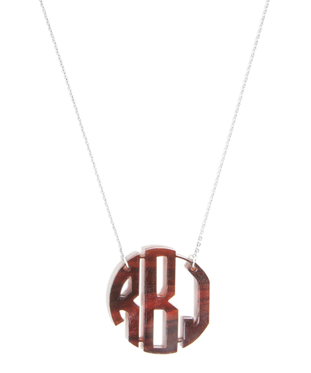 8 Best Acrylic Block Monogram Necklace in Jewelry