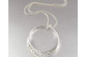 Jewelry , 7 Beautiful Lords Prayer Necklace : Silver Infinity Twisted Pendant
