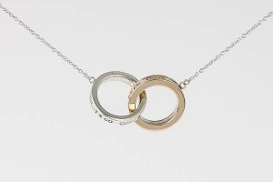 Jewelry , 6 Stunning Tiffany Interlocking Circles Necklace : Silver Interlocking Circles Pendant