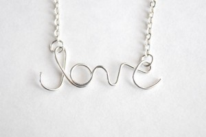 Jewelry , 8 Gorgeous Cursive Love Necklace : Silver Love Necklace