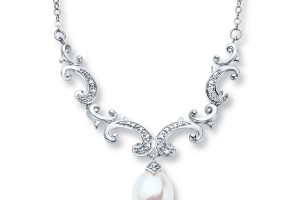 Jewelry , 8 Stunning Kay Jewelers Pearl Necklace : Silver Pearl Necklace