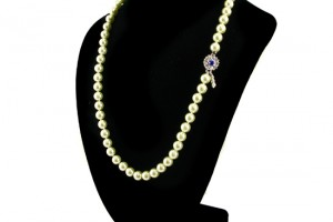 Jewelry , 7 Stunning Jackie Kennedy Pearl Necklace : Single Strand Faux Pearl Necklace