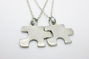 Jewelry , 8 Lovely Matching Puzzle Piece Necklace : Small Puzzle Piece Necklaces