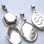 Solid SILVER Locket Pendant , 7 Excellent H2O Just Add Water Locket Necklace In Jewelry Category