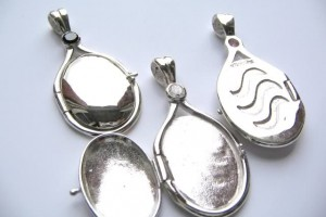Jewelry , 7 Excellent H2O Just Add Water Locket Necklace : Solid SILVER Locket Pendant