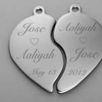 Stainless Steel Broken Heart , 8 Beautiful Broken Heart Necklaces For Couples In Jewelry Category