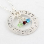 Stamped Birthstone Necklace , 6 Lovely Birthstone Necklaces For Moms In Jewelry Category