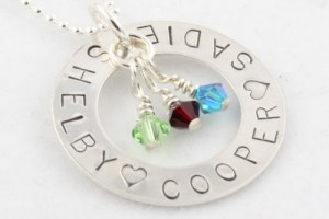 Jewelry , 6 Lovely Birthstone Necklaces For Moms : Stamped Birthstone Necklace