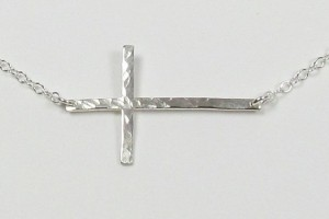 Jewelry , 8 Awesome Horizontal Cross Necklace Sterling Silver : Sterling Silver Kelly Ripa Cross