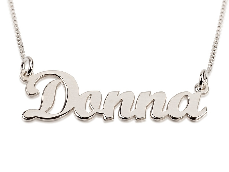 Hair Style , 8 Nice Cursive Name Necklace : Sterling Silver Name Necklace